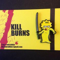 Kill Burns. SimpsonsXKill Bill Enamel Pin Badge. by MHInkredible on Etsy https://www.etsy.com/listing/464594284/kill-burns-simpsonsxkill-bill-enamel-pin