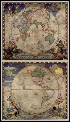 World Map Globe Navigation Silk Canvas Fabric Poster Tapestry Bar