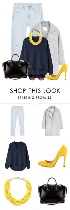 """""""Untitled #1558"""" by directioner-123-ii on Polyvore featuring Zara, MANGO, Givenchy, Ray-Ban and FFfatifashion"""