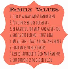 Chase and More: Family Values
