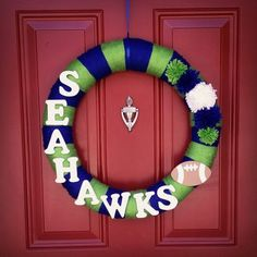 Seattle Seahawks 12th Man Wreath 30 Awww I Need This For