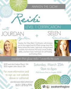 As a Reiki Master Teacher I am thrilled to announce that I will be teaching Reiki Level I with the lovely @selen_chandradev on Saturday March 25th! If you feel called to learn Reiki please check out the details. Tomorrow is the last day to take advantage of Early Bird pricing but scholarships and payment plans are still available. Just ask!  #Repost @awakentheglow with @repostapp  As many of you know I am a certified Reiki Master Teacher Crystal Healer and Sound Healer. My biggest passion…