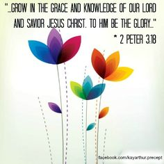 Grow in the Grace and Knowledge of our Lord and Savior Jesus Christ to Him be the Glory! - 2 Peter 3:18