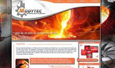 Diseño web para Modytec.cl. Modelos para fundición.