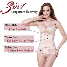 1940499998 3 in 1 Postpartum Support - Recovery Belly waist pelvis Belt Shapewear at  Amazon