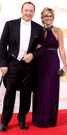 Emmy Awards 2014: Arrivals Kevin Spacey and Ashleigh Banfield
