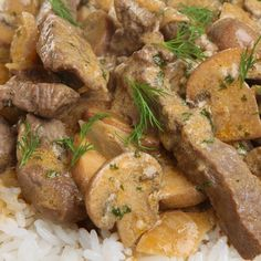 This recipe is for a delicious and classic easy beef stroganoff recipe.