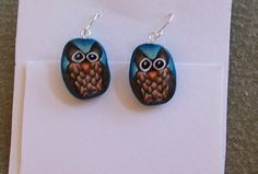 Handmade owl polymer clay earrings | MarquisCreations - Jewelry on ArtFire