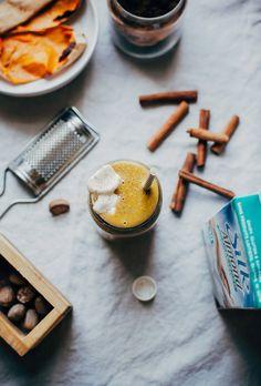 sweet potato spice latte shake - The First Mess