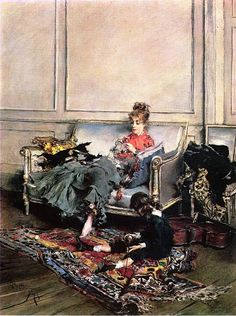 TICMUSart: Peaceful Days - Giovanni Boldini (1875) (I.M.)