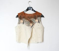 Hand felted women's vest made of wool от LSWoolDesign на Etsy