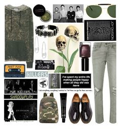 """""""To the centre of the city in the night, waiting for you..."""" by curekitty ❤ liked on Polyvore featuring Levi's, Cotton Citizen, Marc Jacobs, Dr. Martens, Herschel Supply Co., Ray-Ban, Shadowplay, Bobbi Brown Cosmetics and Rebecca Minkoff"""