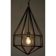 Noir Diamond 1 Light Foyer Pendant & Reviews | Wayfair