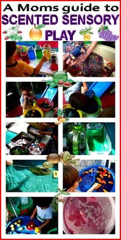 A Moms Guide to Scented Sensory Play.  Repinned by playwithjoy.com. For more sensory pins visit pinterest.com/playwithjoy