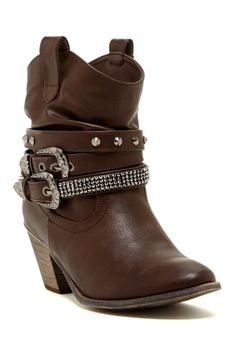 Embellished Strap Bootie. I have these. Theyre wonderful and a great value for $27.00!!!!!