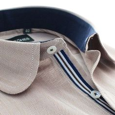 The magic lies in the detailing! Polo Shirt Outfits, Mens Polo T Shirts, Formal Shirts For Men, Casual Shirts, Mens Designer Shirts, Casual Wear For Men, Collar Designs, Camisa Polo, Classy Men
