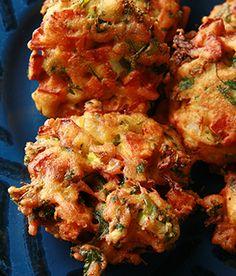 Gluten-free veggie pakora. Tender fried vegetable patties, how can you go wrong?!? #glutenfree #vegetarian