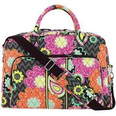 Vera Bradley Luggage Women's Weekender Ziggy Zinnia Duffel Bag -- More details @