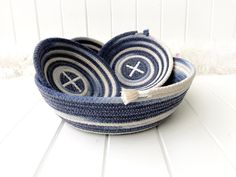 Colored Denim, Blue Denim, Ombre Effect, Small Rings, Cotton Rope, Girl Day, Craft Items, Hair Ties, Collaboration