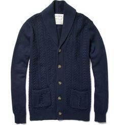 Peckson Shawl-Collar Cable Knit Cardigan  $195