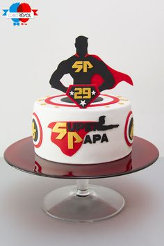 NOS CRÉATIONS - Super Papa - CAKE RÉVOL - Cake Design - Nantes Birthday Cake For Father, Fathers Day Cake, Birthday Cakes For Men, 1st Boy Birthday, Dad Cake, Unique Drawings, Sugar Paste, Taste Buds, Cake Designs