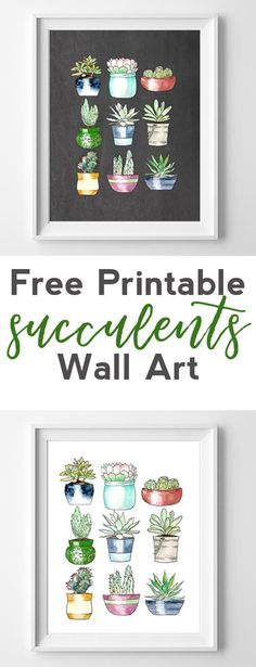 succulents free printables | printable wall art
