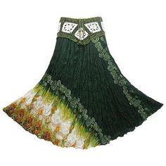 love the crochet yoke! Gypsy Crochet, Crochet Yoke, Crochet Skirts, Crochet Clothes, Belly Dance Costumes, Hippie Gypsy, Printed Skirts, Costume Ideas, Hooks