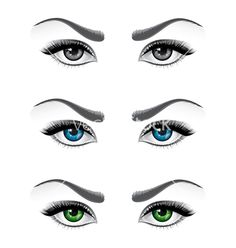 Woman eyes vector image on Eyes Clipart, Doll Face Paint, Girl Face Drawing, Chicken Painting, Cartoon Eyes, Eye Painting, Graffiti Lettering, Face Expressions, Clay Figures