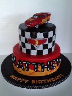 Lightning McQueen Cake  Cake by TheVagabondBaker