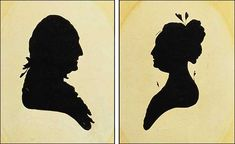 Distinguishing Real from Fake Peale's Museum Silhouette by user from Antiques & Fine Art magazine Silhouette Artist, Vintage Silhouette, Black Silhouette, Silhouette Portrait, Silhouette Cameo, Printable Pictures, Native American History, British History, Women In History
