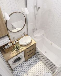 34 Awesome Small Bathroom Design Ideas For Apartment - It seems that one of the bathroom design trends is to make the bathroom larger. A spacious bathroom shows your preference for a comfortable lifestyle. Modern Bathroom Decor, Bathroom Design Small, Bathroom Layout, Bathroom Interior Design, Small Bathroom Ideas, Bathrooms Decor, Bathroom Trends, Industrial Bathroom, Bathroom Colors