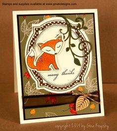Thankful Fox Card Project - stampTV