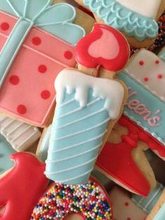 Beautiful birthday cookies