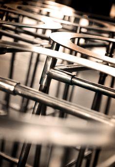 metal stools no 246 restaurant  andrew t crawford, smith hanes