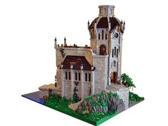 Great Library at Saltoro - lego Lego Modular, Chateau Lego, Lego Movie Characters, Lego Knights, Amazing Lego Creations, Lego Moc, Lego Lego, Lego Construction, Lego Castle