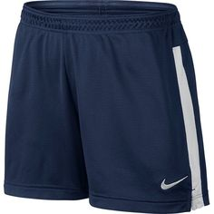 Women's Nike Dri-FIT Academy Mesh Knit Soccer Shorts ($25) ❤ liked on Polyvore featuring activewear, activewear shorts, light blue, nike activewear, nike and nike sportswear