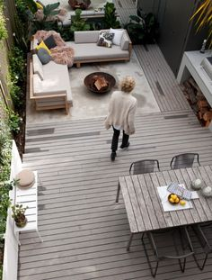 Row house outdoor patio design.