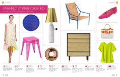 March 2013 - Lonny Magazine - Lonny  love the chair & stool