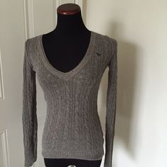 AF sweater V neck sweater. Used condition but still in great. Offers welcome. Rest assured that your purchased items come from a clean and pet free home. Check out my love notes in my profile!  Abercrombie & Fitch Sweaters V-Necks