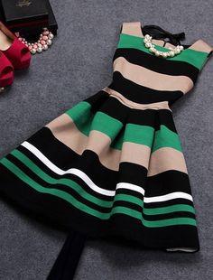 color stripe dress