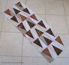 Freemotion by the River: Trail Market scrappy table runner