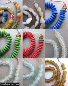 Check out our newest inventory of fine quality, antique and vintage African beads.  Rexbeads.com glass beads ashanti beads coke bottle beads