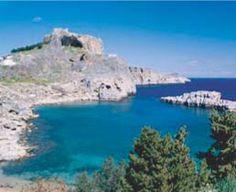 "Beautiful Lindos, Greece (you never lhear ""Lindos"" without the modifer ""beautiful""."