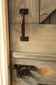 charcoal grey Remodelaholic | DIY Dutch Barn Door