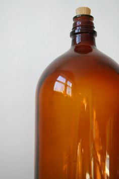 Amber Apothecary Bottle