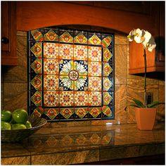 Talavera Mexican Ceramic Border Tiles Spanish Floor Of Spanish Style Kitchen Wall Tiles Spanish Kitchen, Spanish Tile, Spanish Style Homes, Spanish Revival, Spanish Colonial, Mexican Kitchens, Mexican Tile Kitchen, Tuile, Hacienda Style