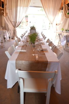 Country Wedding Reception Table Herb Centerpieces, Red Barn Ranch, Rustic wedding