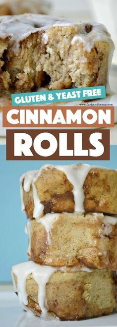 Yeast Free Cinnamon Rolls. I cannot believe how GOOD these are!