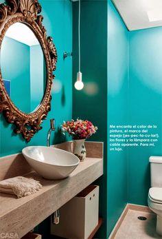 Creative Bathroom Mirror Ideas For a Small Bathroom Casa Clean, New Interior Design, European Home Decor, Decoration Inspiration, Traditional Decor, Eclectic Decor, Home Decor Trends, Beautiful Bathrooms, Small Bathroom