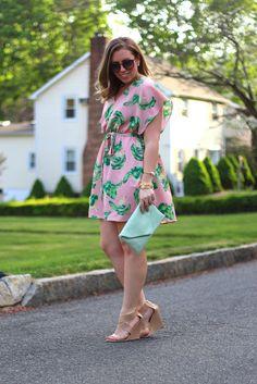 Pastel Palm Beach Dress | #LivingAfterMidnite